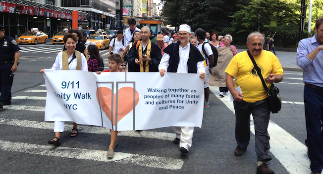 Religions for Peace USA hosted the annual 9/11 Unity Walk NYC on Sept 8th, 2013.