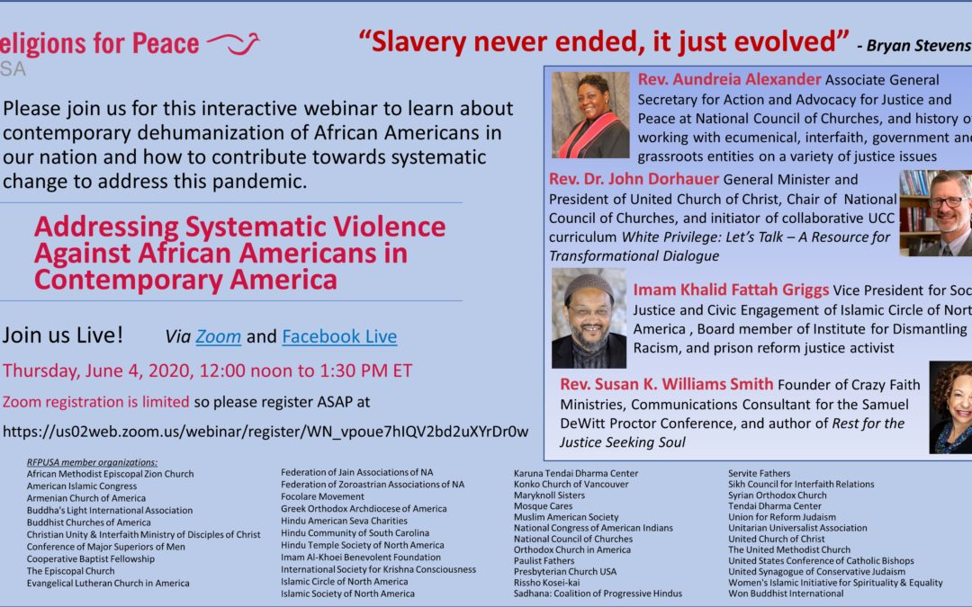 June 4: Addressing Systematic Violence Against African Americans in Contemporary America