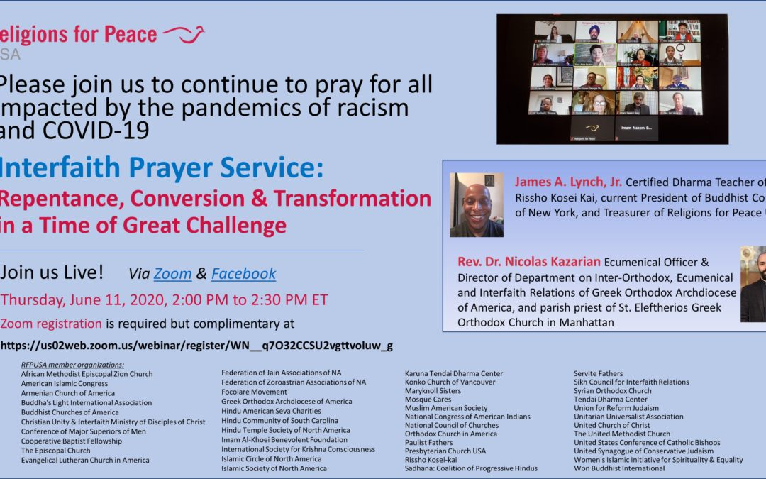 June 11 – Interfaith Prayer Service: Repentance, Conversion & Transformation in a Time of Great Challenge