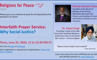 June 25 – Interfaith Prayer Service: Why Social Justice?