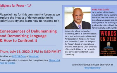 July 16 – Consequences of Dehumanizing and Demonizing Language & How to Confront it