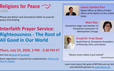 July 23 – Interfaith Prayer Service: Righteousness – The Root of All Good in Our World