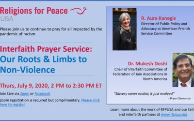 July 9 – Interfaith Prayer Service: Our Roots & Limbs to Non-Violence