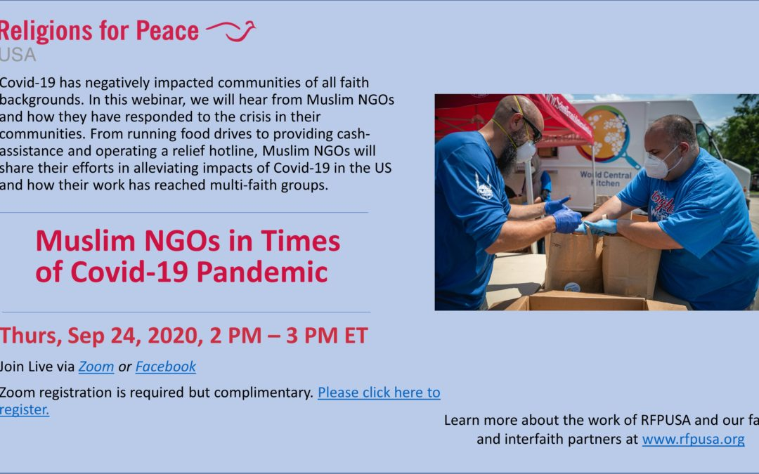 Sep 24: Muslim NGOs in Times of Covid-19 Pandemic