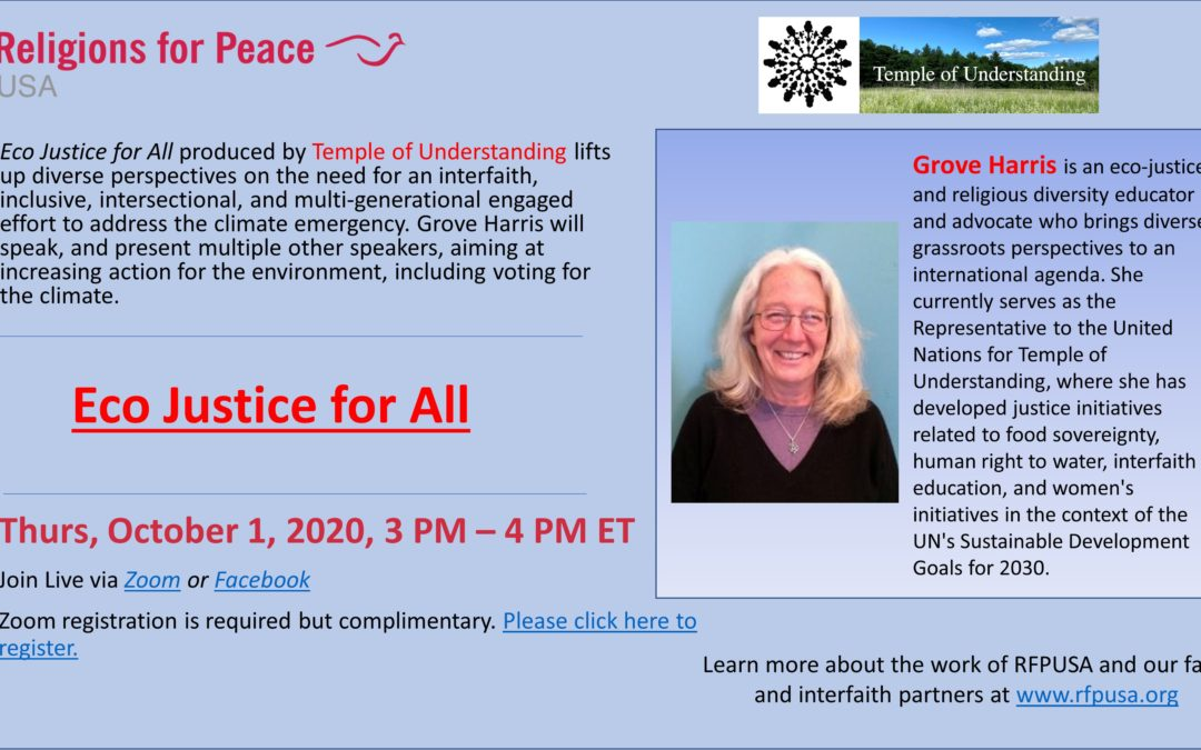 October 1: Eco Justice for All