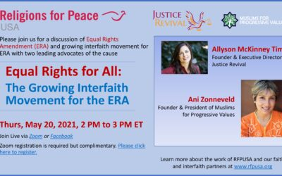 May 20 – Equal Rights for All: The Growing Interfaith Movement for the ERA