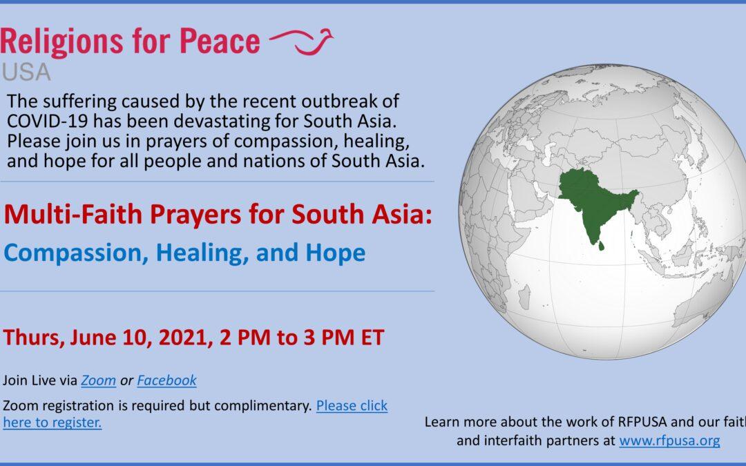 June 10 – Multi-Faith Prayers for South Asia