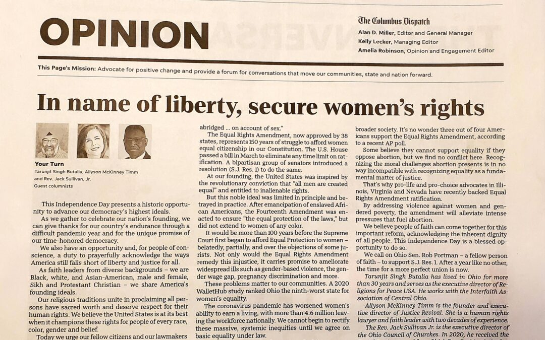 In the Name of Liberty, Secure Women's Rights