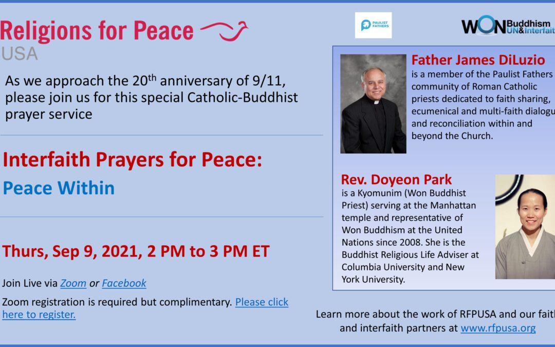 Sep 9: Peace Within (20th anniversary of 9/11)